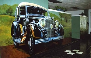 1933 Mercedes Mural