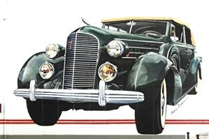 1936 Caddy Mural