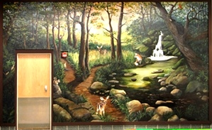 Smoky Mountain Mural, Memorial for Channon Christian
