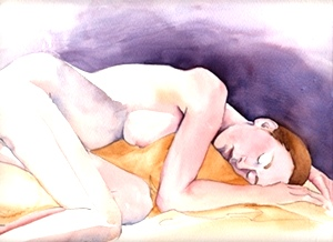 Resting Nude from life