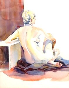 Watercolor Nudes from life