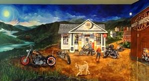 Motorcycle Mural