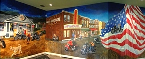 Motorcycle Mural for the Van Dynes