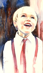 Painting Faces in Watercolor at Tellico Village Art Guild, March 3, 4, 5th, 2015